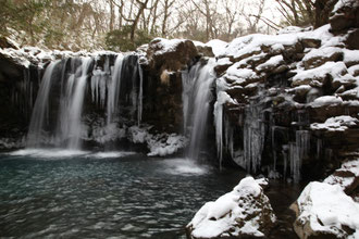 極寒の暮雨ノ滝