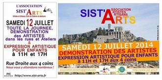 Sist'Arts JCA du 12/07/14