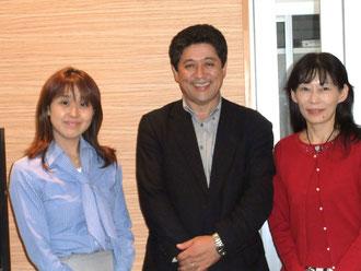 國分さん、福地社長、Miyukiさん