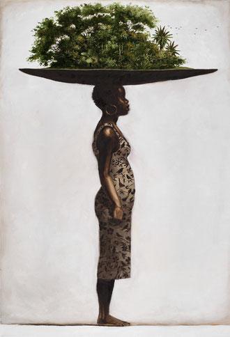 """La Maj vestida. From the series """"Desplazamiento"""" (Displacement) by Pedro Ruiz"""