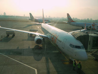 Nach der Landung in São Paulo