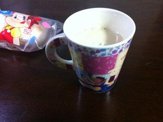 甘いコーヒー牛乳
