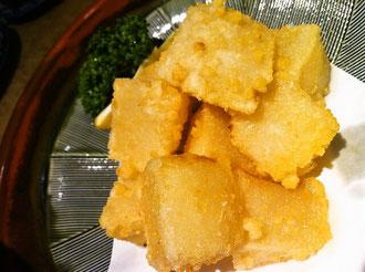 久留米市道安大根の天ぷら