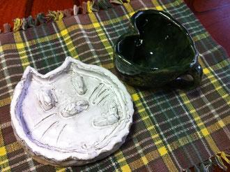 親子ふれあい活動で作った陶器