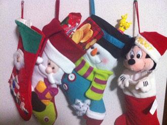 家族のクリスマスストッキング