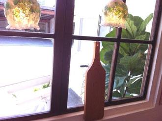ワインボトル型カッティングボード