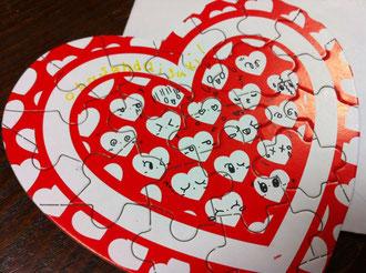 バレンタインパズルカード