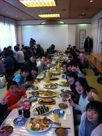 久留米温泉にて新年会
