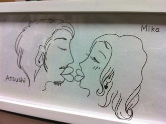 似顔絵タオルの原画