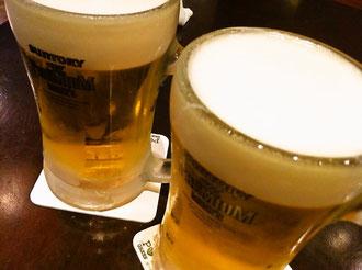 プロントで生ビール
