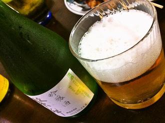 すぐるの焼き鳥とビール