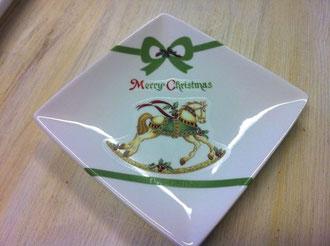 ポーセラーツクリスマスの絵皿