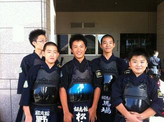 剣志館の中学生チーム
