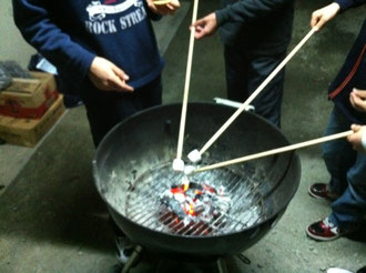マシュマロ焼き