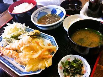 筑後市美味天ぷら定食