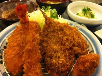 海鮮と野菜のフライ定食