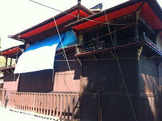 八女福島八幡宮燈篭人形小屋