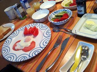 姉の家で朝食