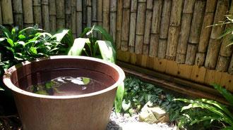 五右衛門風呂の露天風呂