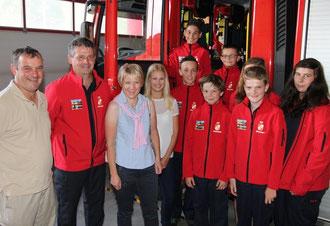 Freude bei Sponsoren und der Feuerwehrjugend