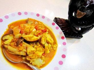 野菜たっぷり♡カレー風味のトマトスープ