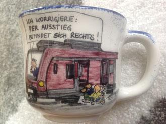 eine tolle Kaffeetasse zum Geburtstag für Lokführer