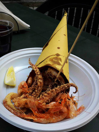 cuoppo calamari e gamberi