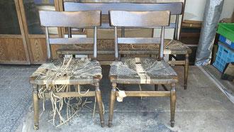 愛犬の被害にあった椅子