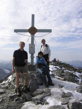 Hannes und Franz beim Bergsteigen