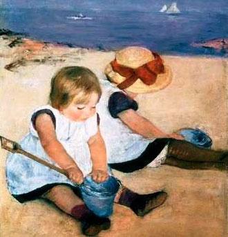 MARY CASSATT - Due bambine sulla spiaggia