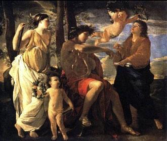 NICOLAS POUSSIN - L'ispirazioene del poeta (1630)