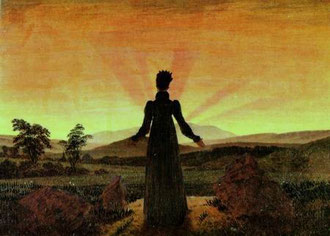David Caspar Friedrich - Donna di fronte al sole