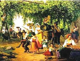 PETER RAADSIG - La vendemmmia (1844)