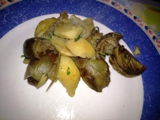 Carciofini e patate