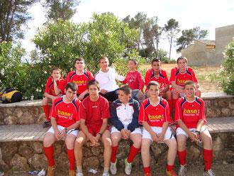 """Equipo Masculino de Fútbol Sala Infantil """"LOS BASE"""" de Mesas del Guadalora - (Haz """"clic"""" en la imagen para ampliar)."""