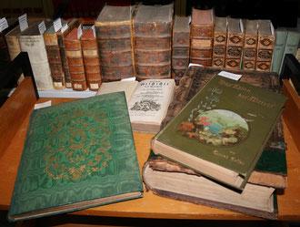 Bücher aus der Westerholt-Gysenberger Sammlung. Foto: Stadt Bottrop