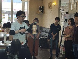 鹿児島から坂口拓也中央講師を招いて、宮崎早苗会の11月講習会が開催された(2018.11.5)