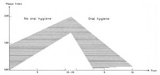 Indice de plaque en fonction du temps