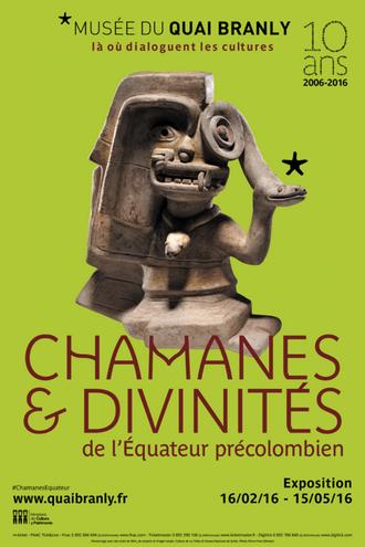 affiche, exposition, chamanes et divinités, musée, quai branly