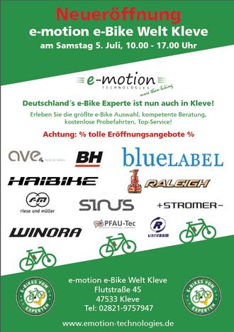 Eröffnungsfeier e-motion e-Bike Welt Kleve