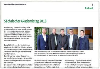Sächsischer Akademietag 2018, Zahnärztekammer Sachsen