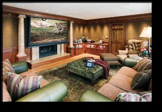 Видео проекционный кинотеатр в квартире