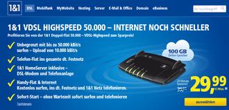 1und1 VDSL HIGHSPEED 50000-INTERNET NOCH SCHNELLER