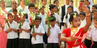 Begrüßung in einer Schule