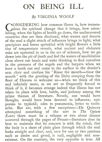 Quelle: Screenshot Seite 1 von https://thenewcriterion1926.files.wordpress.com/2014/12/woolf-on-being-ill.pdf