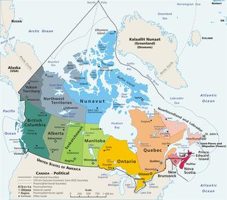 Die Provinzen und Territorien Kanadas