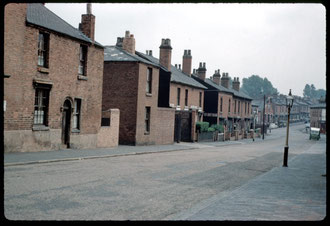 Camp Hill in the 1960s. The houses date from c1830. Photograph by Phyllis Nicklin - See Acknowledgements Keith Berry.