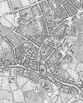 Westley's map of Birmingham with North at the top.