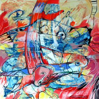 Die Angst des Ikarus vor dem freien Fall_100 x100_2011