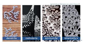 Kollektionen: dendrite - radiolaria - ammonite - kinematics